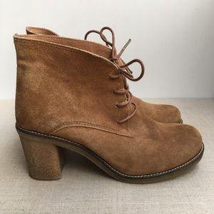 Hibou Women EU 38 Brown Suede Lace-Up Boots